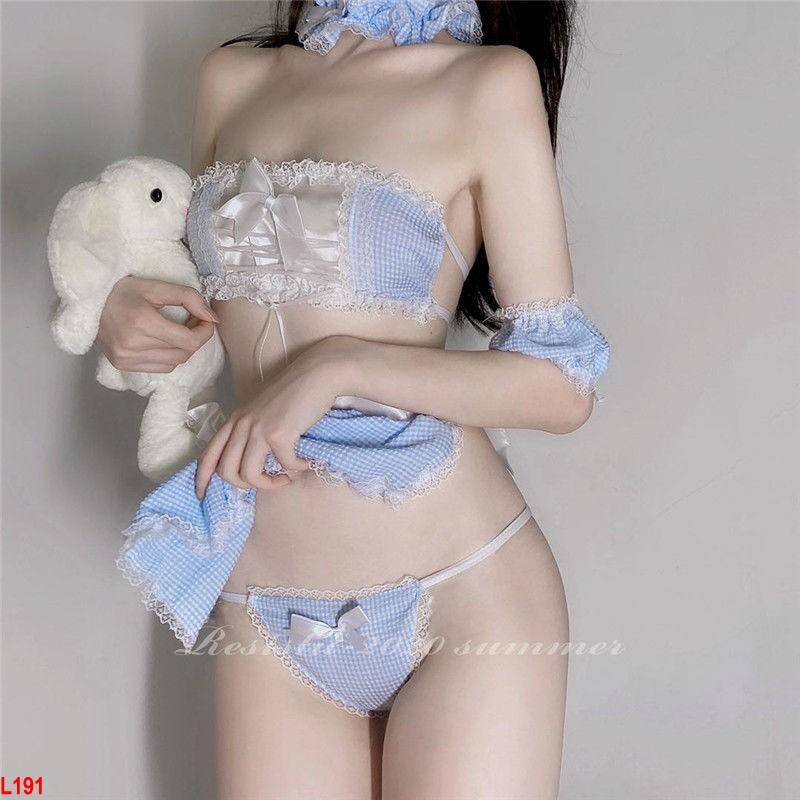Set đồ ngủ Babygirl gợi cảm/ Cosplay hầu gái