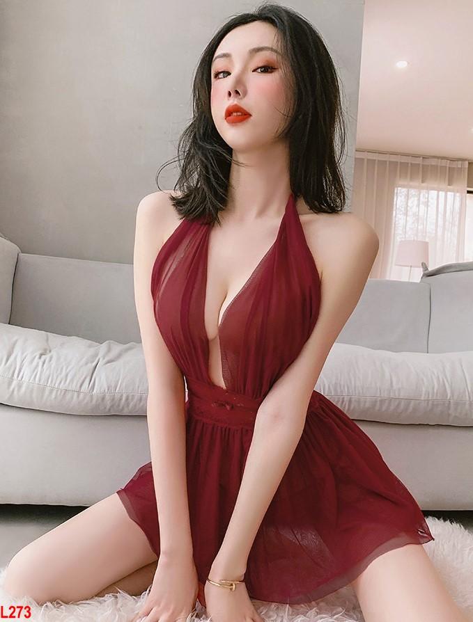 Đầm ngủ tiểu thư voan sang chảnh - Váy tiểu thư voan đẹp siêu xinh