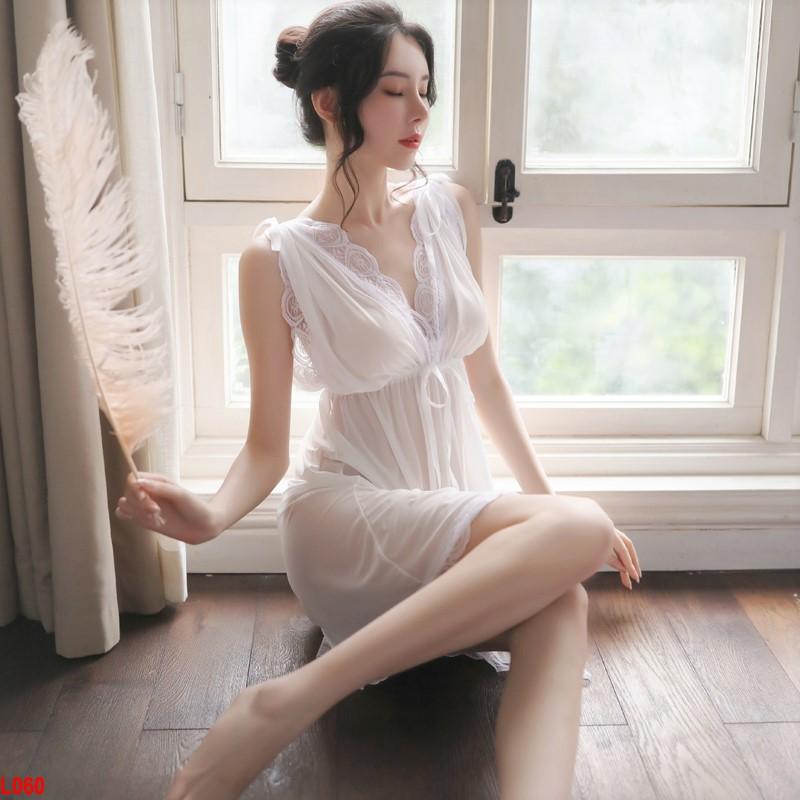 Đầm ngủ Tiểu thư xuyên thấu lả lơi