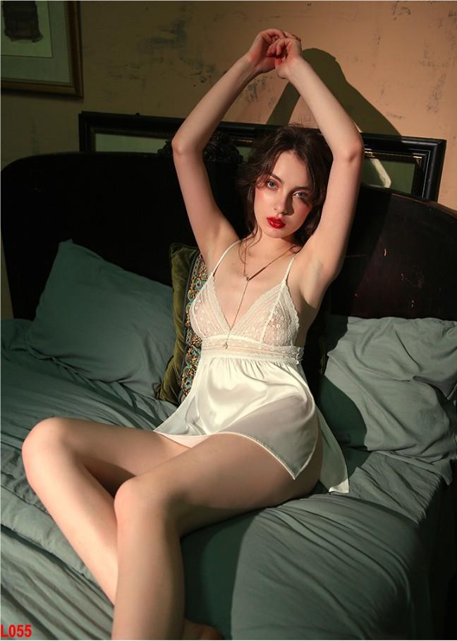 Đầm ngủ gợi cảm phối ren form ngắn