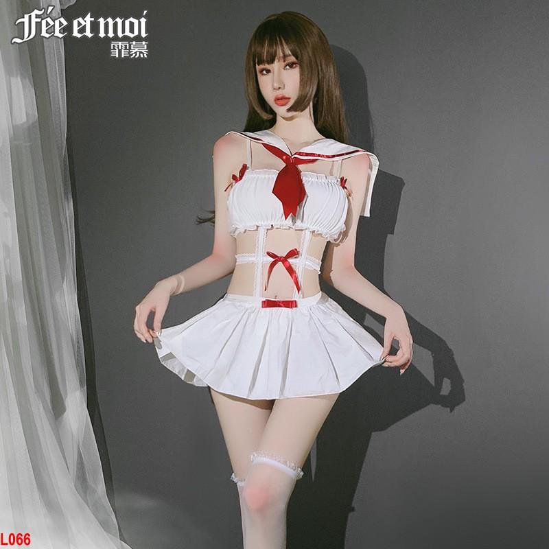 Set váy cosplay học sinh đáng yêu