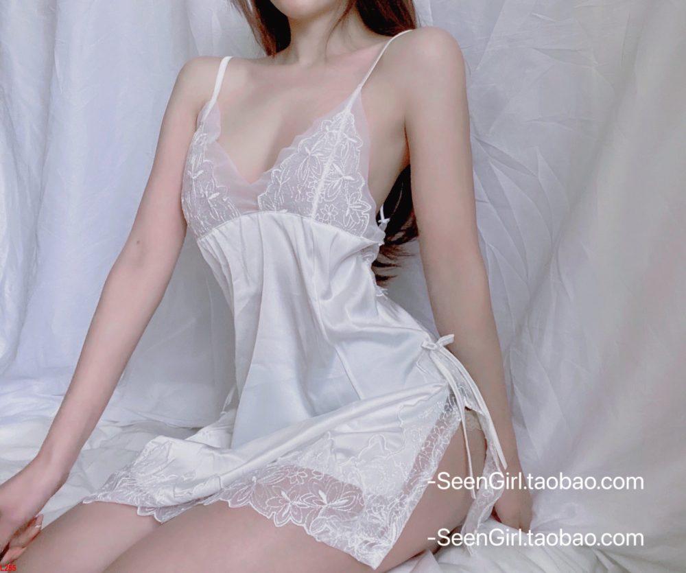 Đầm ngủ 2 dây phối ren xịn xò