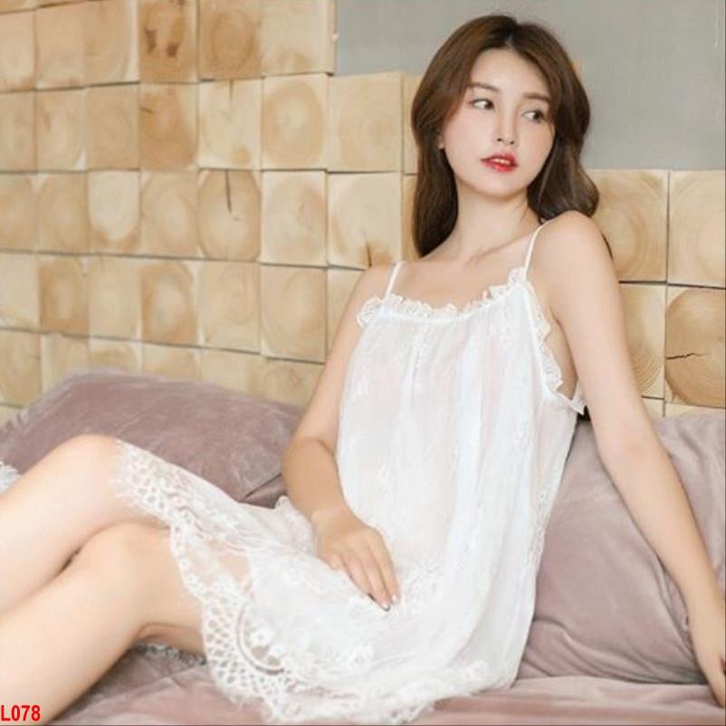 Đầm ngủ Tiểu thư ren cao cấp