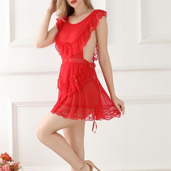 Đầm ngủ tiểu thư xuyên thấu đáng yêu siêu rẻ