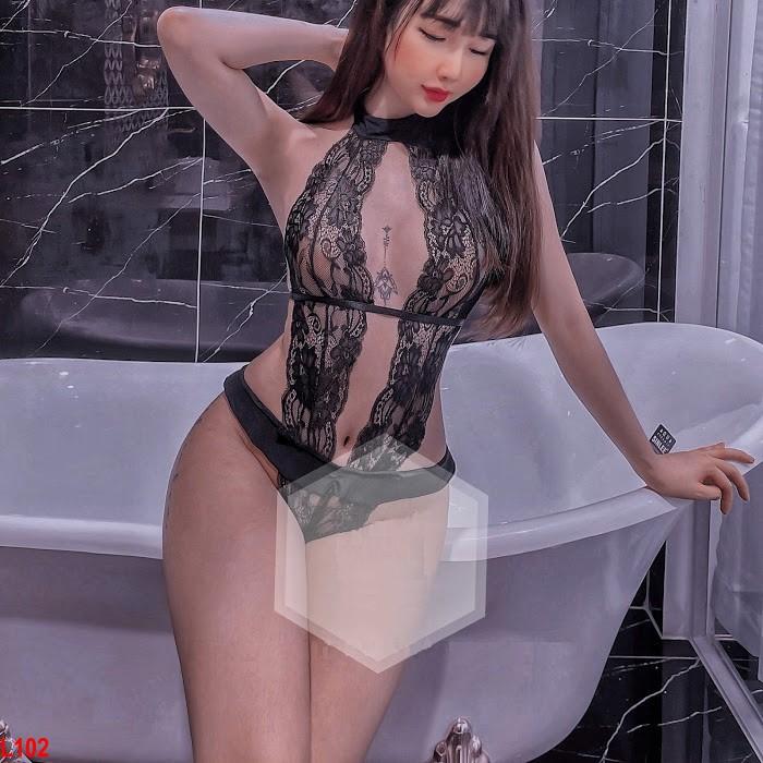 Đồ ngủ bodysuit ren sexy