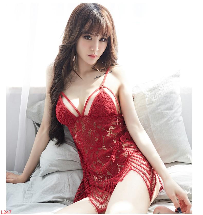 Váy lưới ren sexy xuyên thấu nhẹ