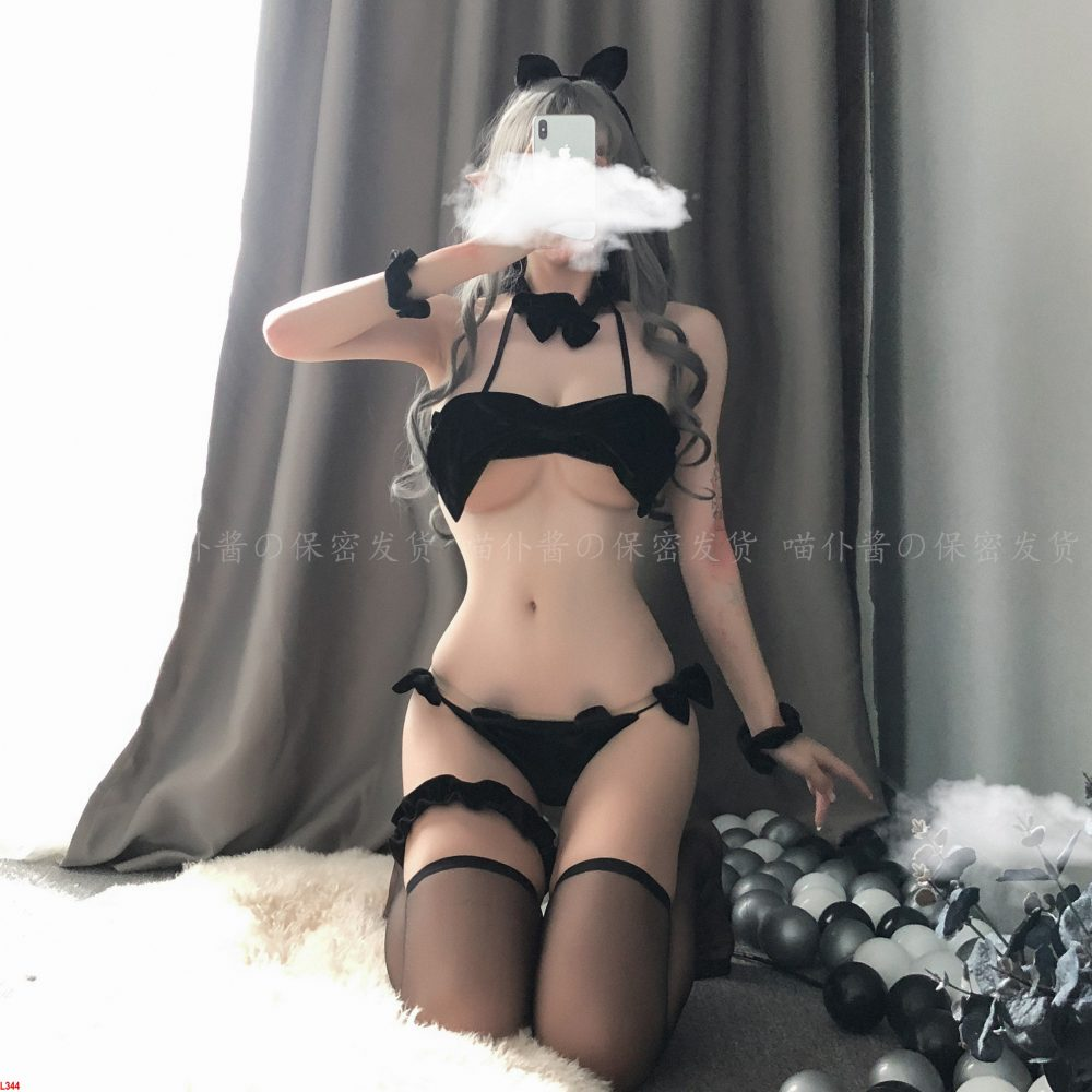 Bộ Cosplay mèo con siêu sexy Quảng Châu