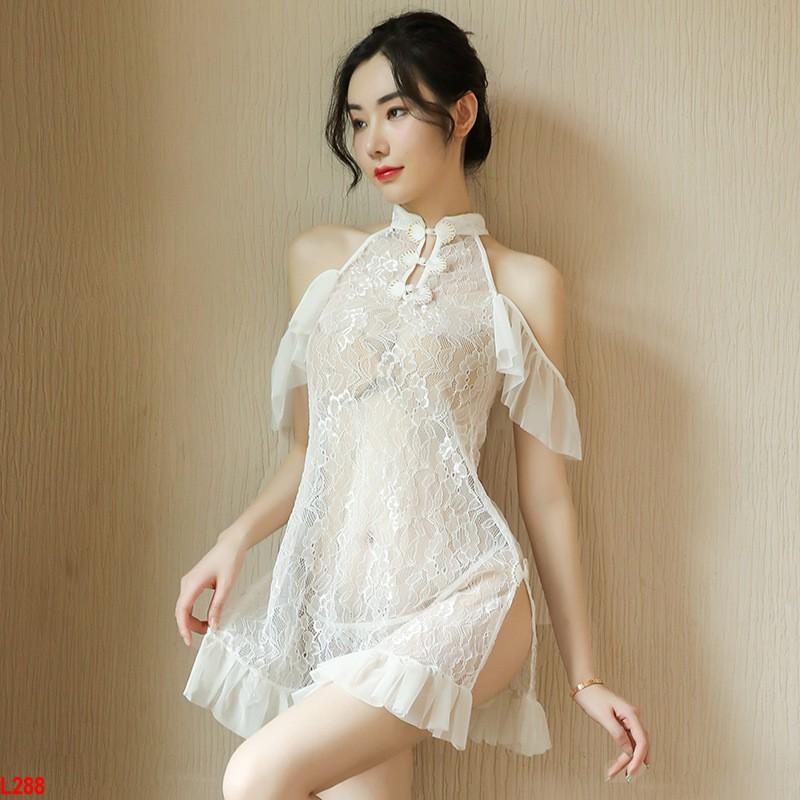 Váy ngủ xuyên thấu trễ vai Tiểu Thư Bến Thượng Hải